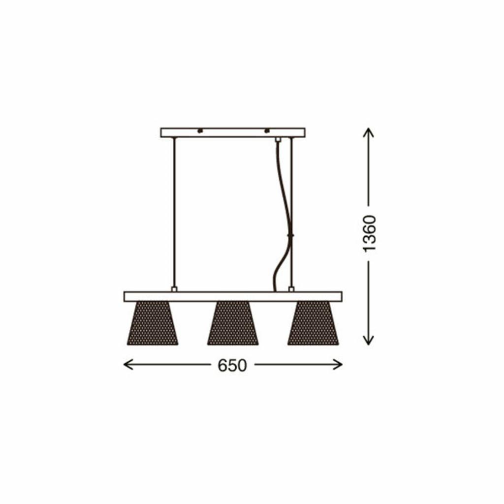Produktové foto Briloner Závěsné světlo Wood & Style 4077, dlouhé, 3 zdroje
