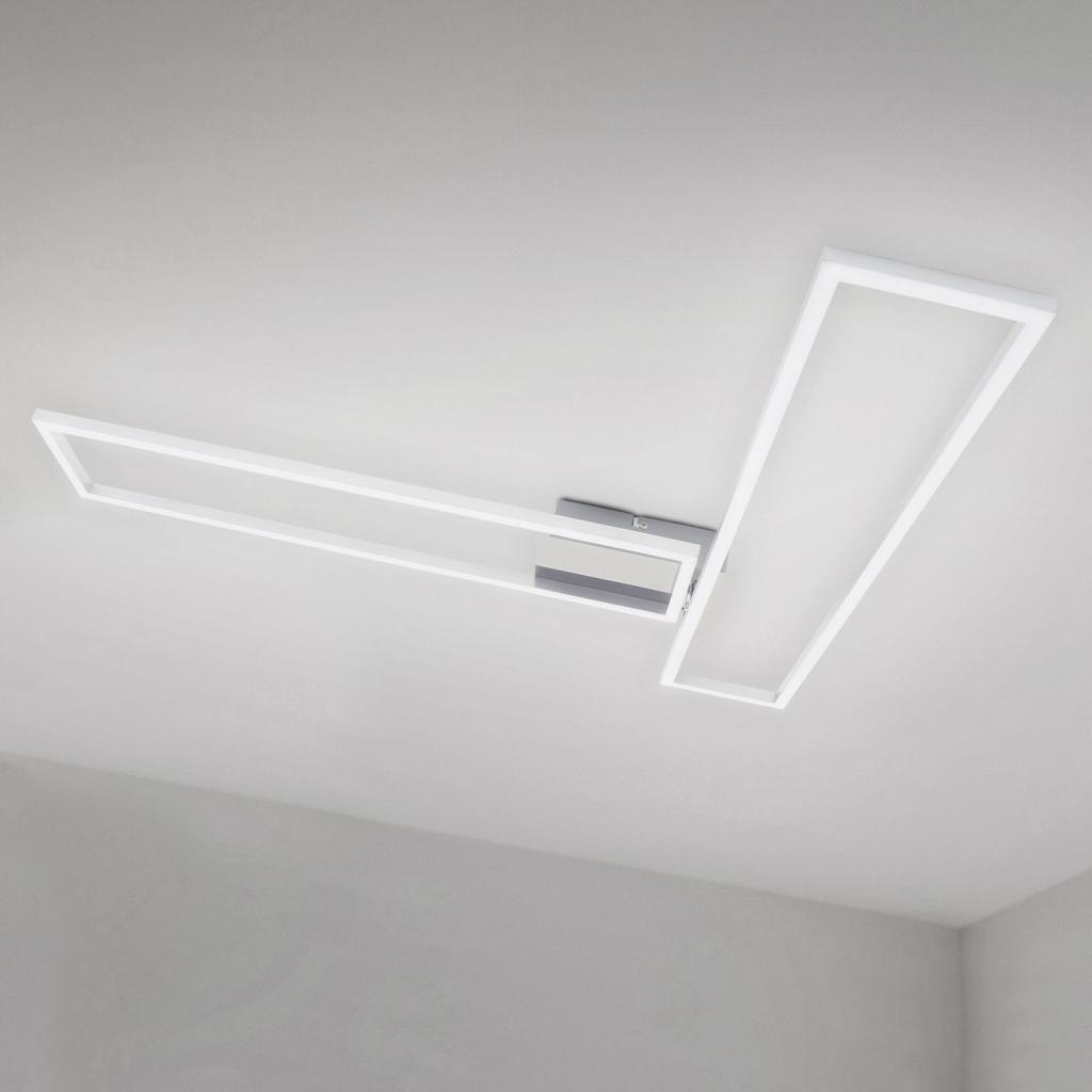Produktové foto Briloner Stropní světlo Frame WiFi CCT, ovládání, hliník