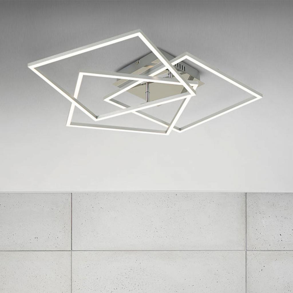 Produktové foto Briloner Frame WiFi CCT, dálkové ovládání, hliník, 57x57 cm