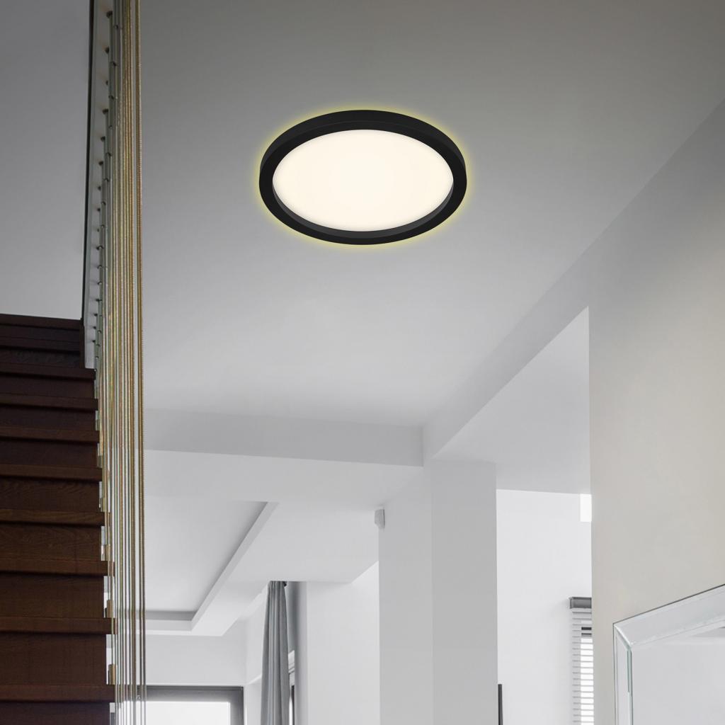 Produktové foto Briloner LED stropní světlo 7361, Ø 29 cm, černá