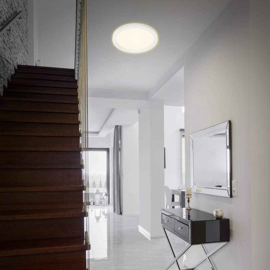 Produktové foto Briloner LED stropní světlo 7361, Ø 29 cm, bílá