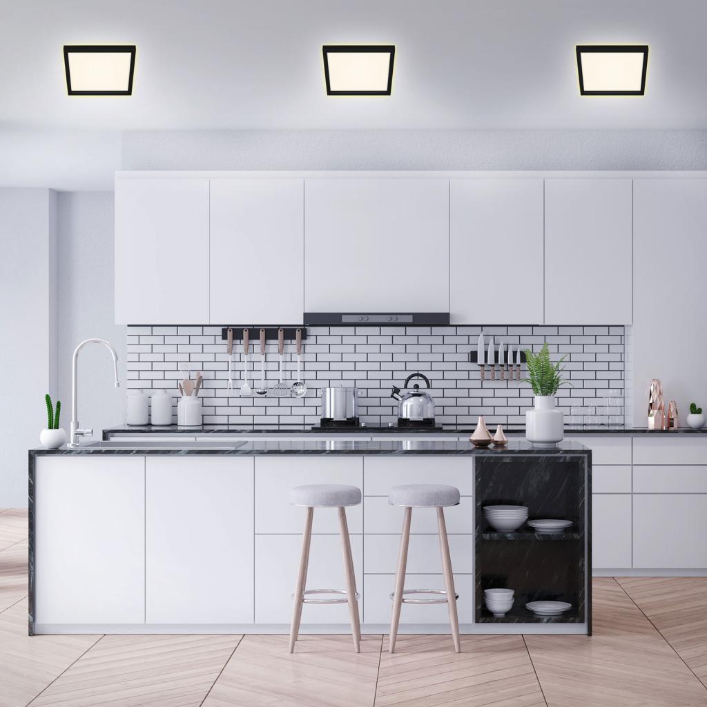 Produktové foto Briloner LED stropní světlo 7362, 29 x 29 cm, černá