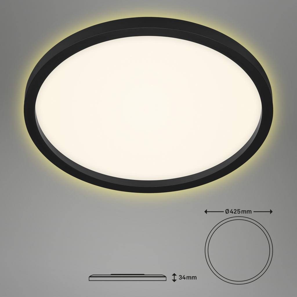 Produktové foto Briloner LED stropní světlo 7363, Ø 42 cm, černá