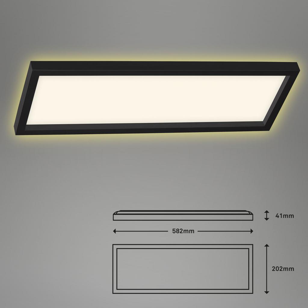 Produktové foto Briloner LED stropní světlo 7365, 58 x 20 cm, černá