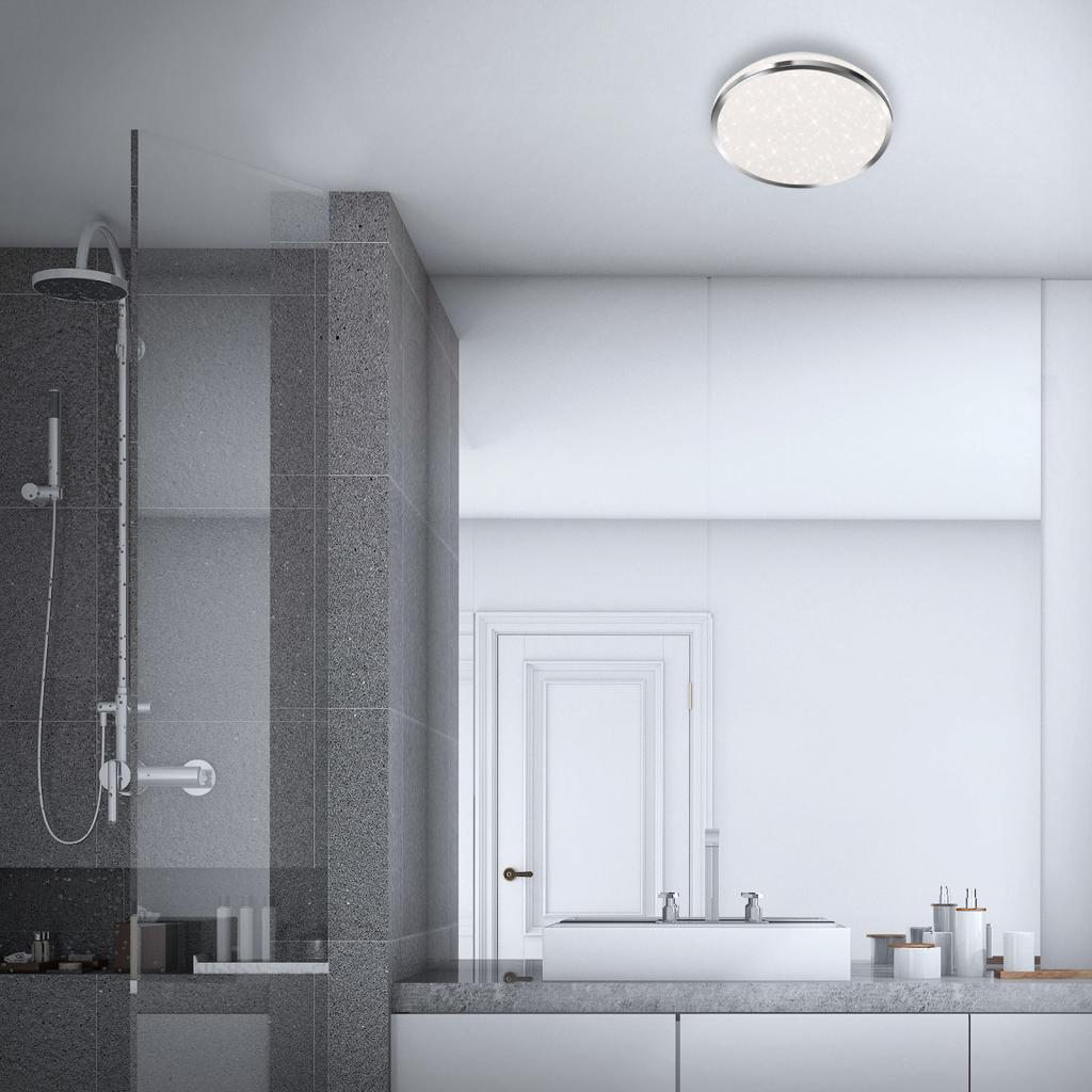 Produktové foto Briloner LED stropní světlo 3403 IP44 hvězdný dekor, Ø 28cm