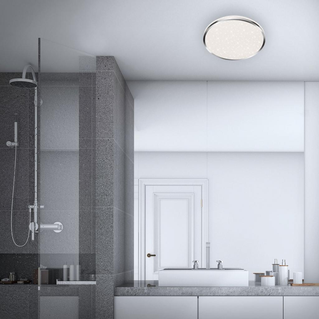 Produktové foto Briloner LED stropní světlo 3403 IP44 hvězdný dekor, Ø 33cm