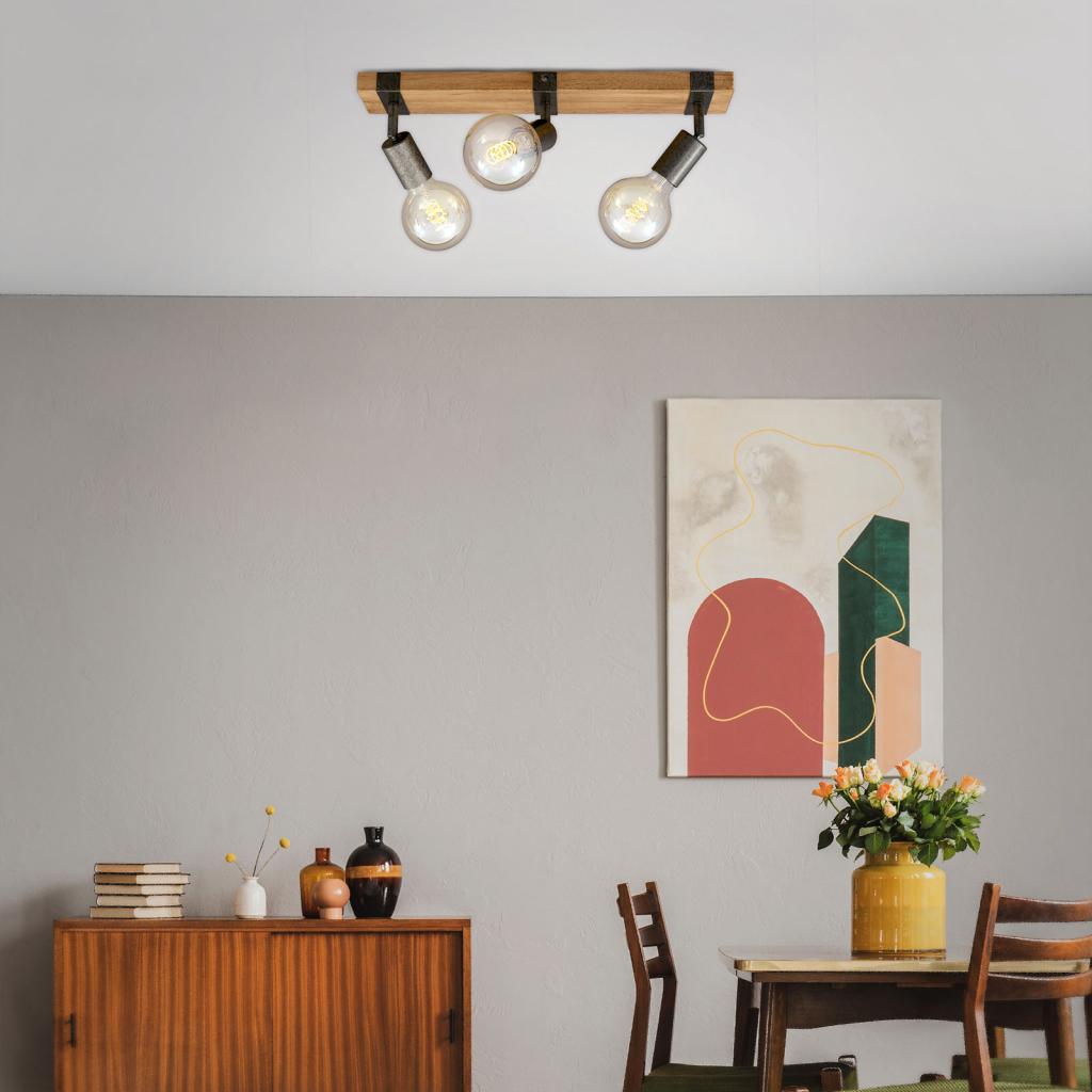 Produktové foto Briloner Stropní světlo Wood Basic, tři zdroje