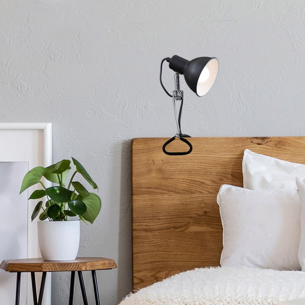Produktové foto Briloner Světlo se svorkou 2790 s kovovým stínidlem, černá
