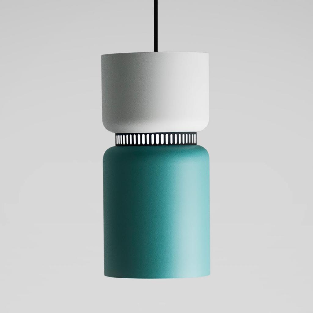 Produktové foto B.lux LED závěsné světlo Aspen S, bílá tyrkysová, 17cm