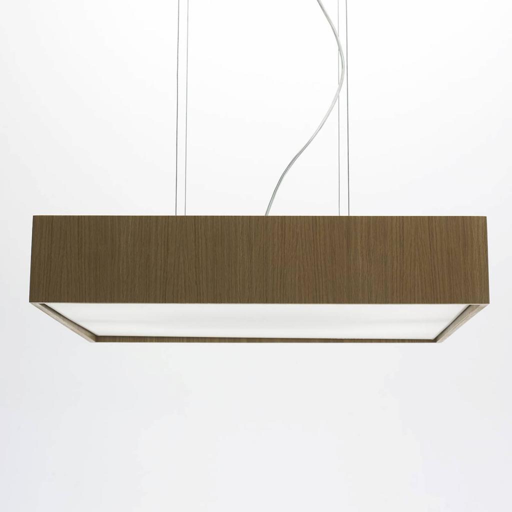 Produktové foto B.lux LED závěsné světlo Quadrat S 60 x 60, dub