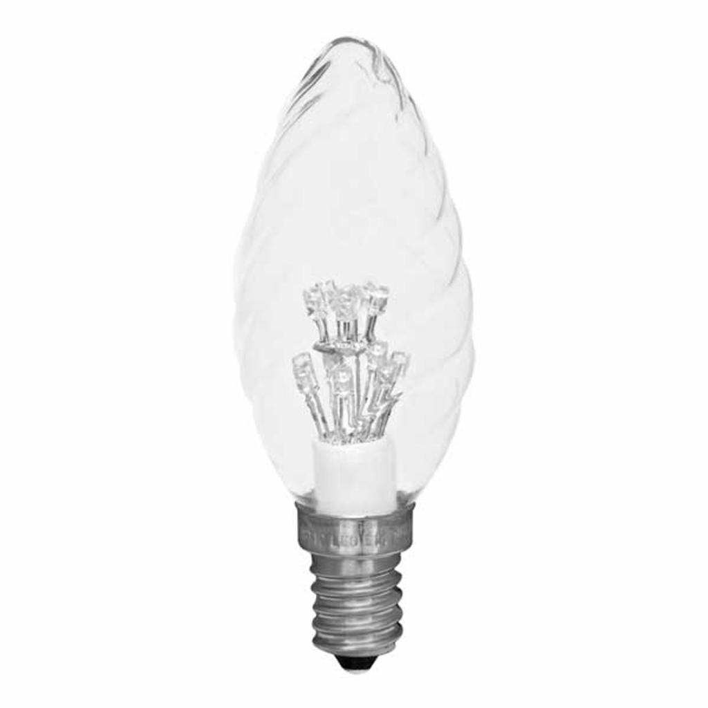 Produktové foto Best Season E14 0,9W LED žárovka tvaru svíčky, čirá 2600K