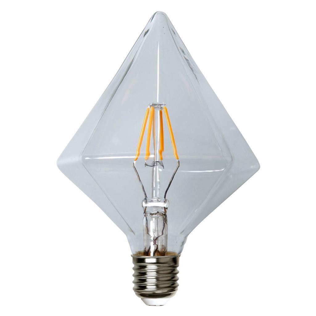 Produktové foto Best Season E27 3,2W 827 LED žárovka, 16,5 cm tvar kosočtverce