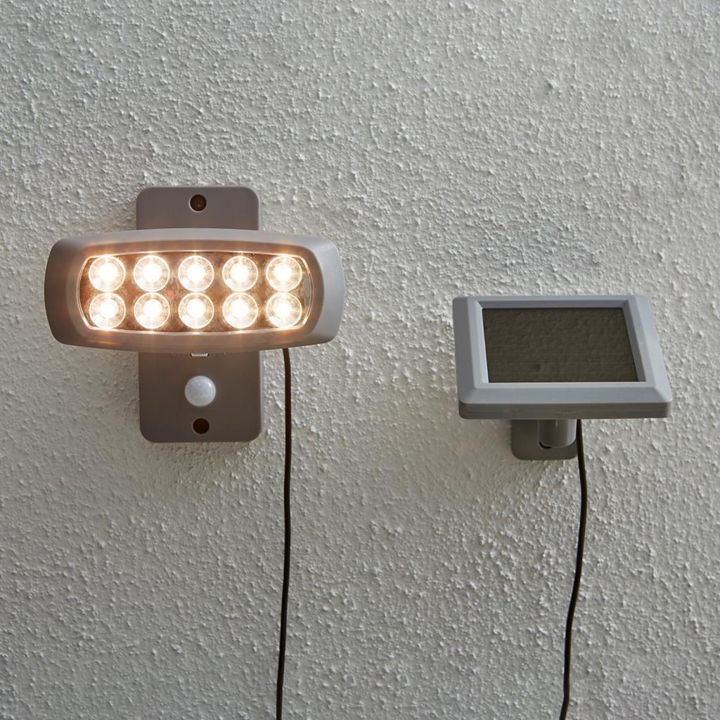 Produktové foto Best Season Solární LED bod Powerspot s čidlem, šedá
