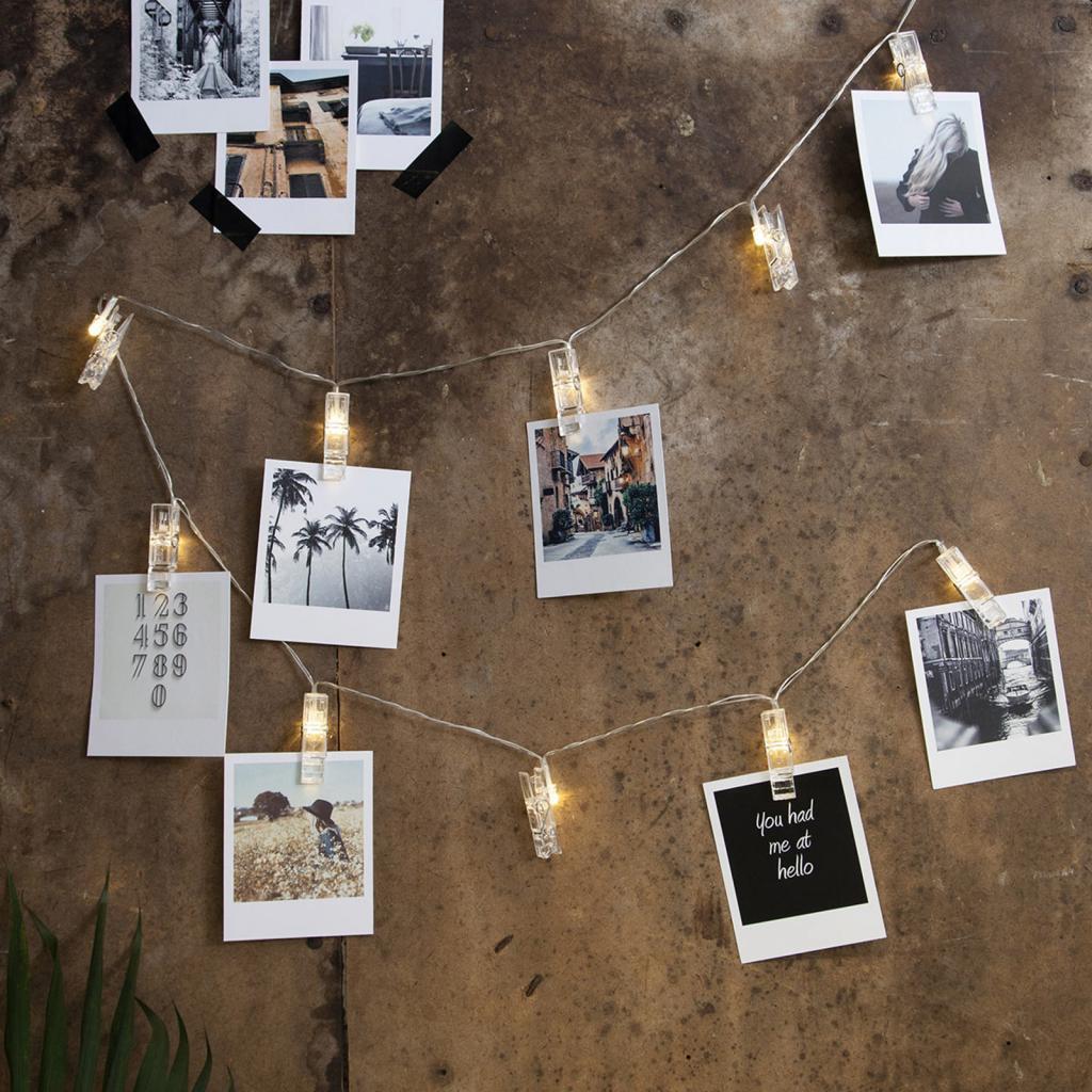 Produktové foto Best Season LED foto světelný řetěz Clippy na baterie, časovač
