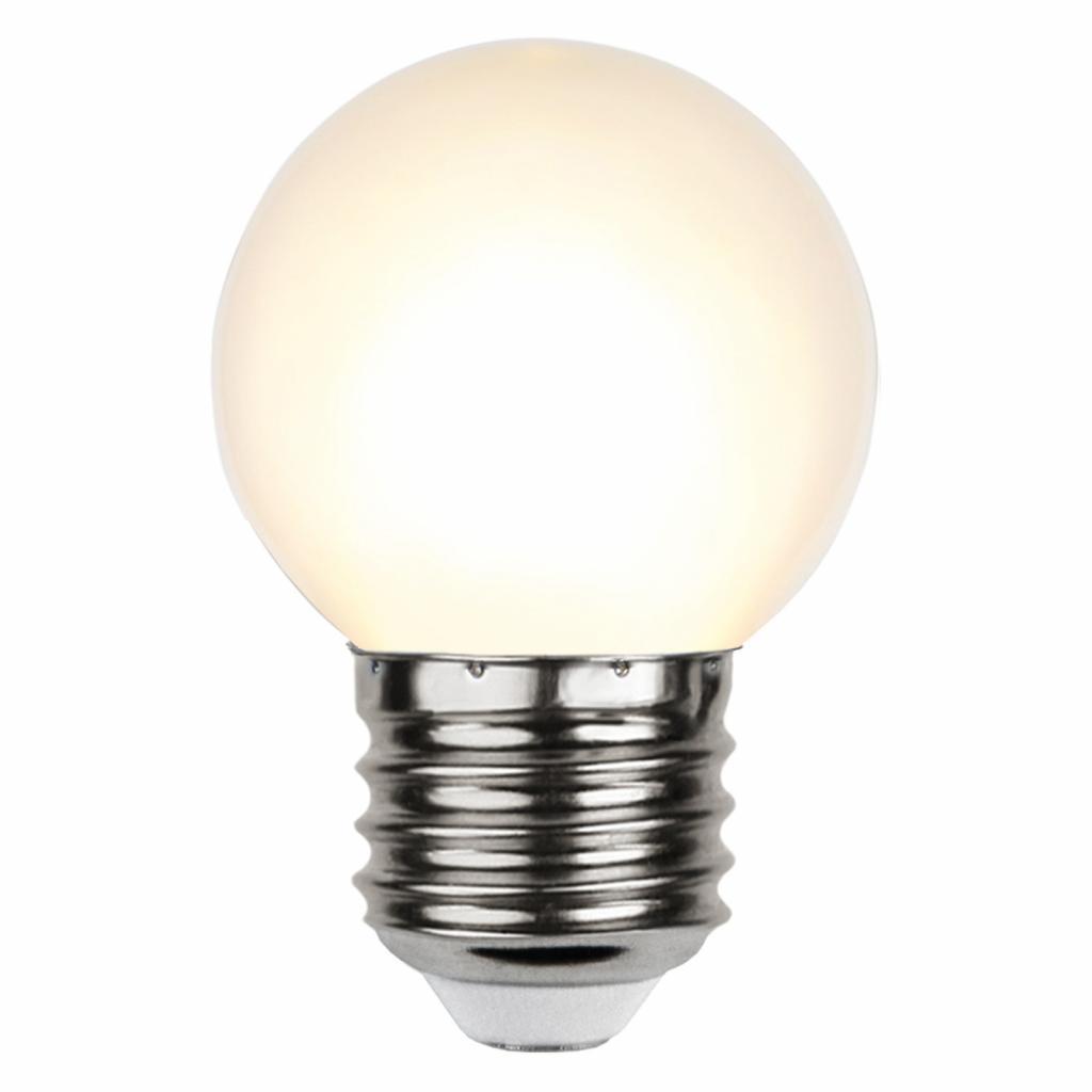 Produktové foto Best Season LED žárovka E27 G45 pro světelný řetěz, bílá 2700K