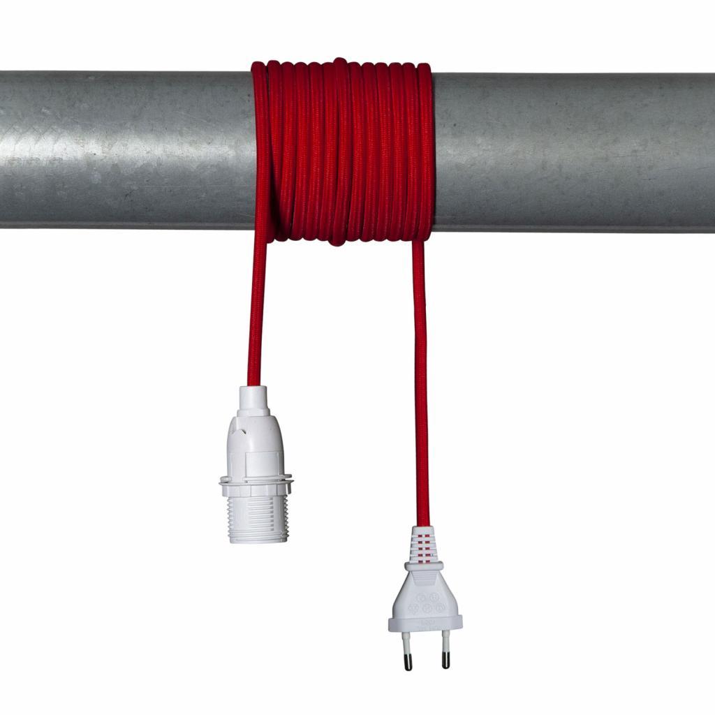 Produktové foto Best Season E14 patice Lacy s kabelem, červená a bílá