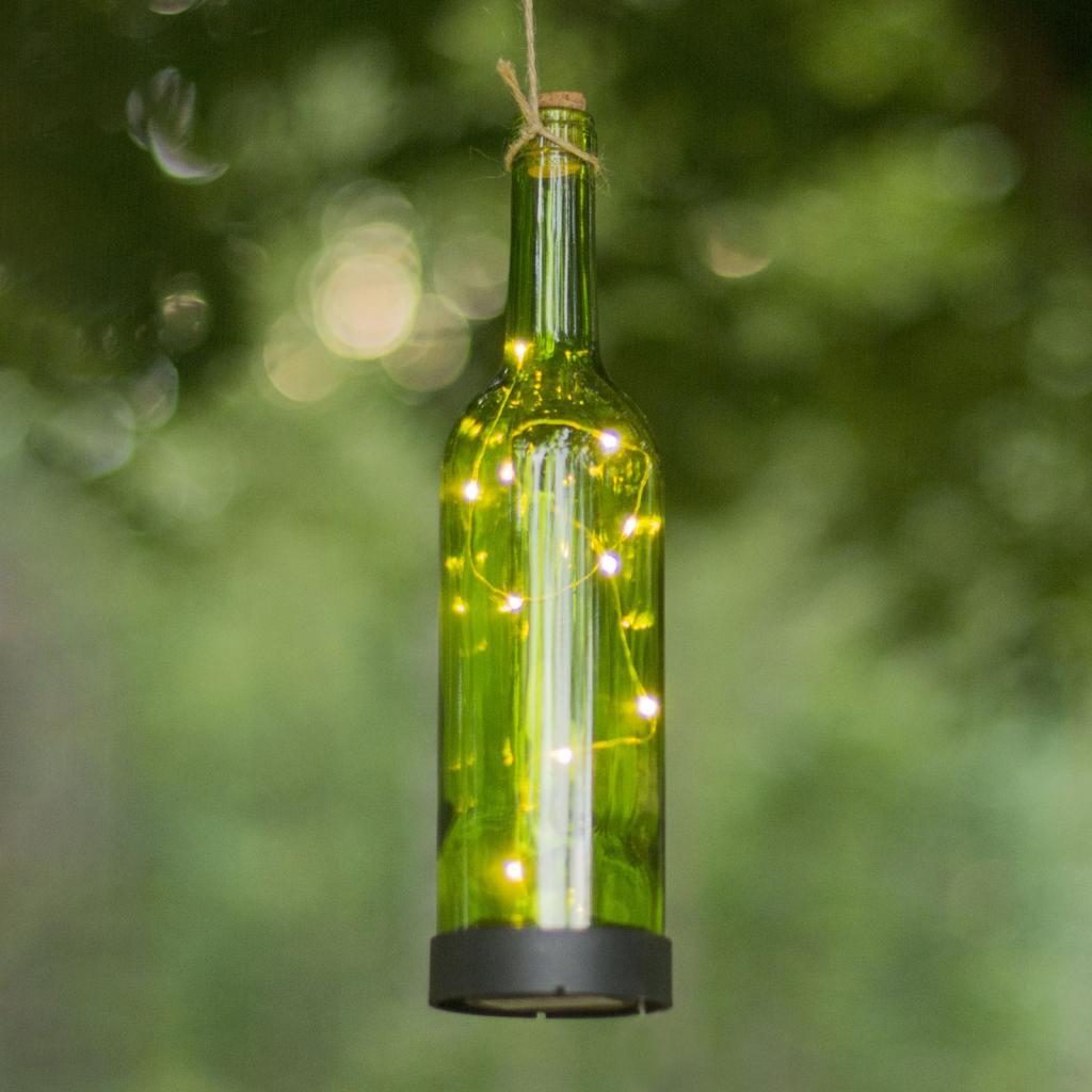 Produktové foto Best Season LED solární světlo Bottle, zelená