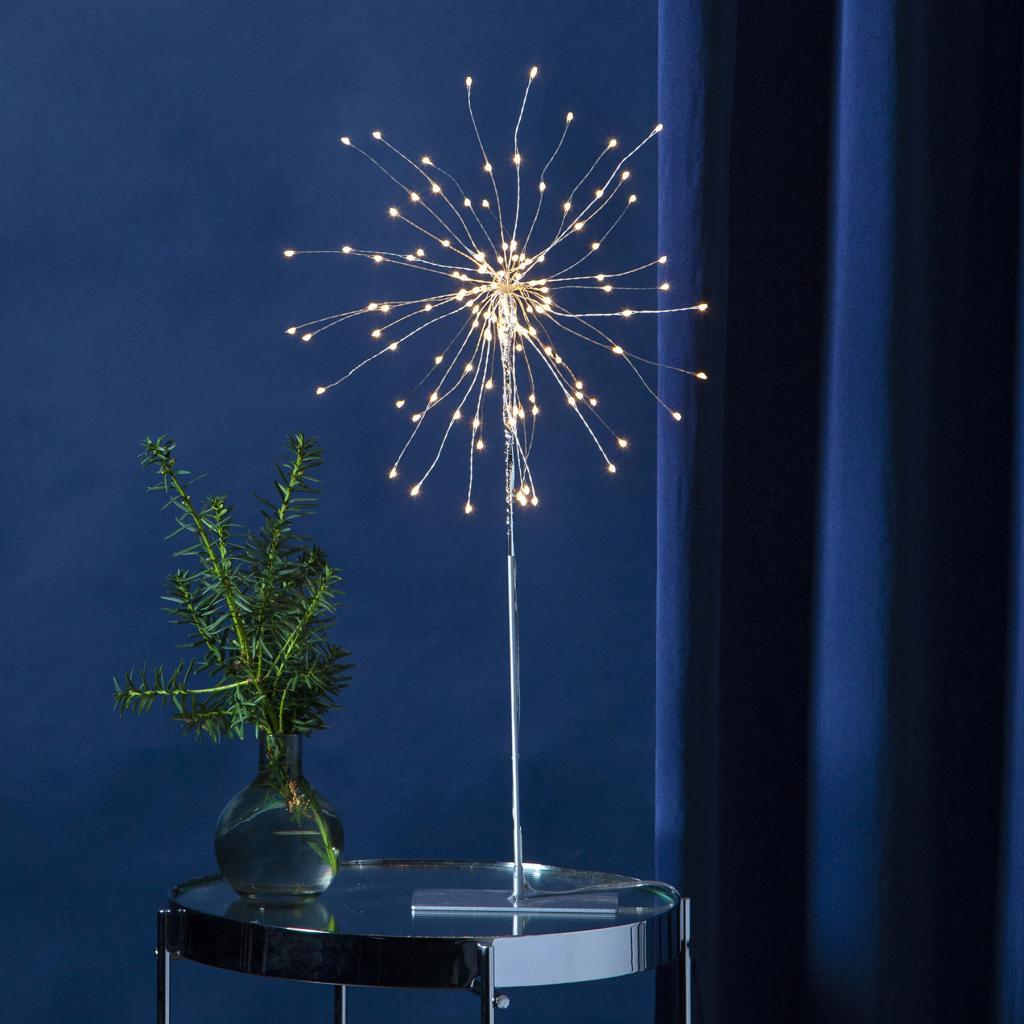 Produktové foto Best Season LED dekorativní světlo Firework 3D šedá, 50cm