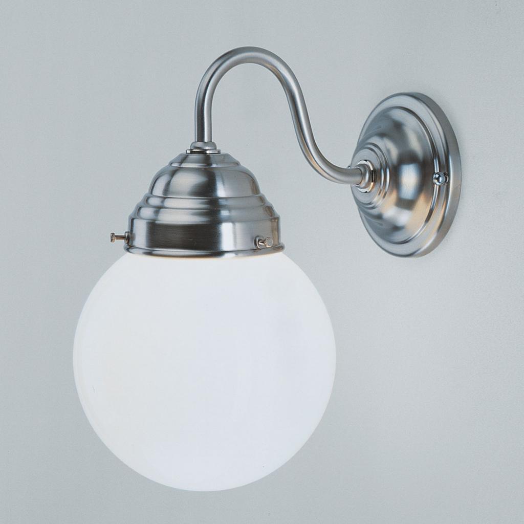 Produktové foto Berliner Messinglamp Nástěnné světlo Larry, nikl matný