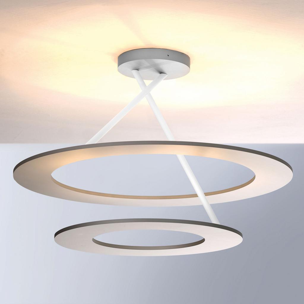 Produktové foto BOPP Bopp Stella LED stropní světlo 2kruhy, hliník/bílá
