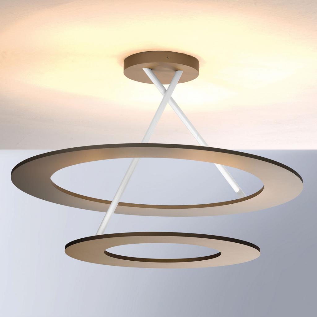 Produktové foto BOPP Bopp Stella LED stropní světlo 2 kruhy taupe/bílá