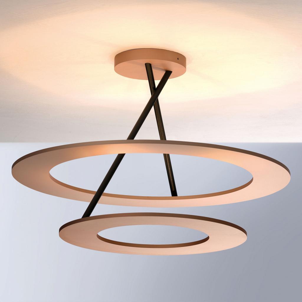 Produktové foto BOPP Bopp Stella LED stropní světlo 2kruhy růžová/černá