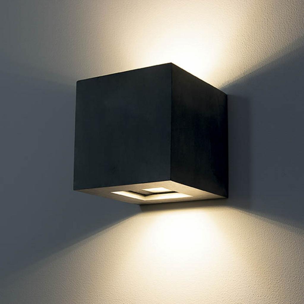 Produktové foto 9010 LED venkovní nástěnné světlo1092 up & down, černá