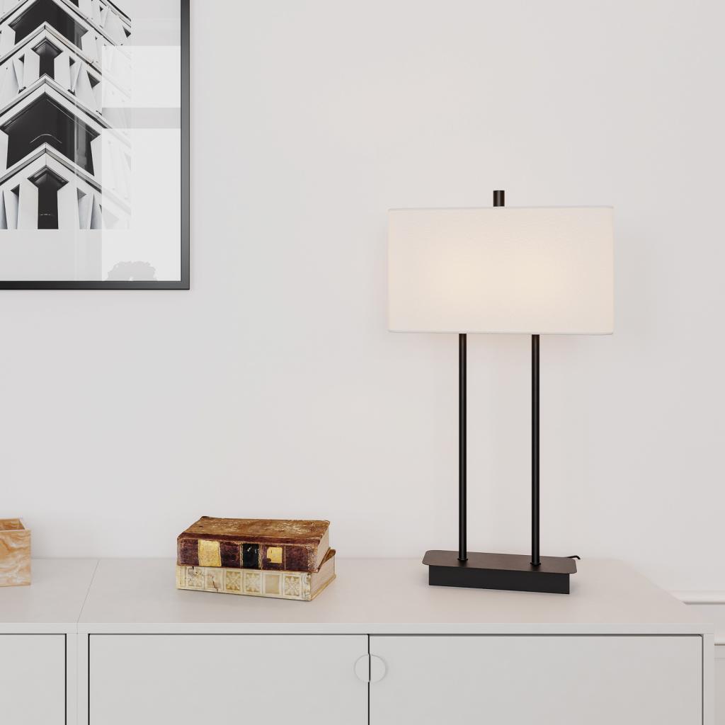 Produktové foto By Rydéns By Rydéns Luton stolní lampa, bílá/černá, 56cm