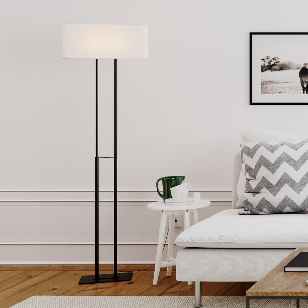 Produktové foto By Rydéns By Rydéns Luton stojací lampa, bílá/černá, 150 cm