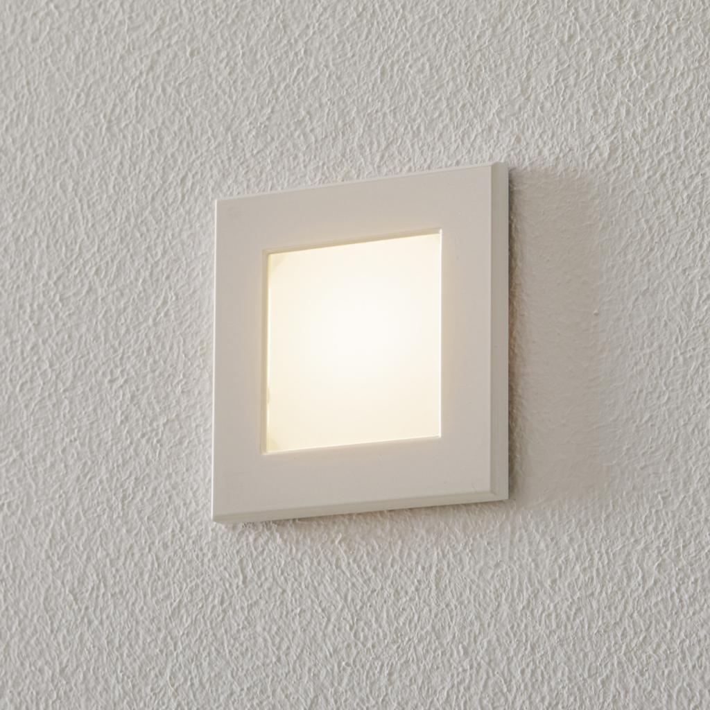 Produktové foto BEGA BEGA Accenta světlo hranaté rám bílý 160lm