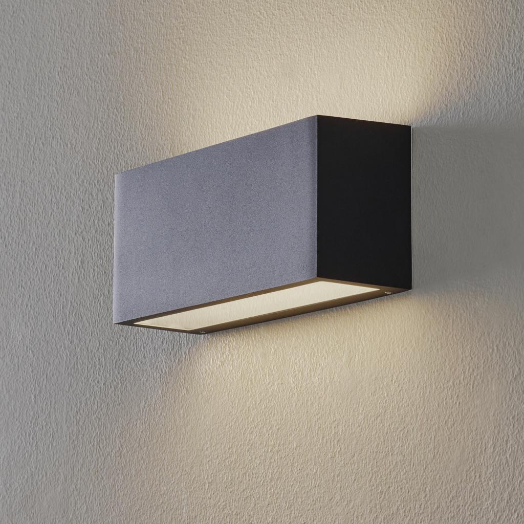 Produktové foto BEGA BEGA 50147 nástěnné světlo 3000K DALI 25cm černá