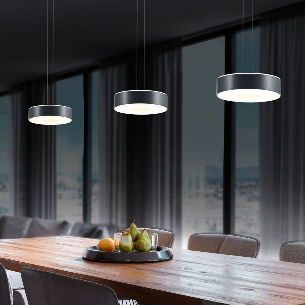 Produktové foto BANKAMP BANKAMP Tondo LED závěsné světlo 3-žár. antracit