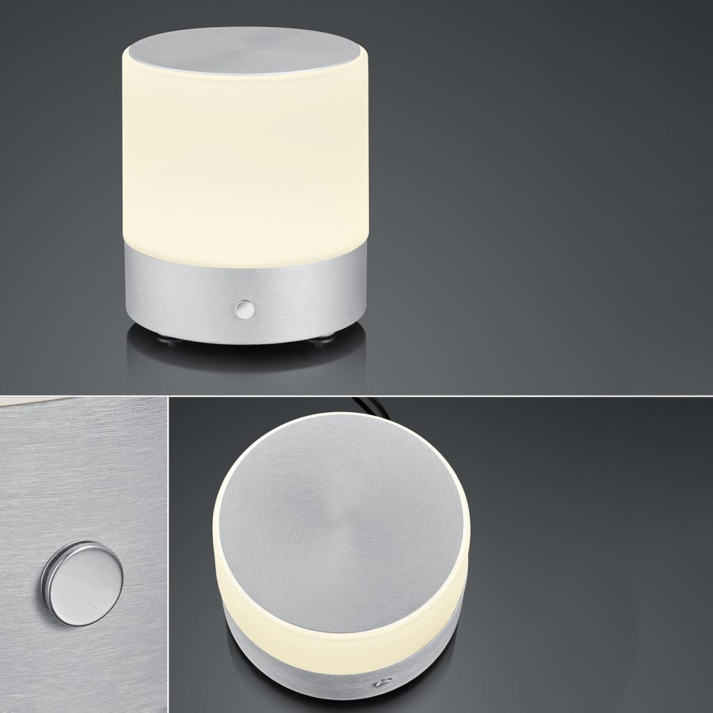 Produktové foto BANKAMP BANKAMP Button LED stolní lampa, výška 18,5cm alu