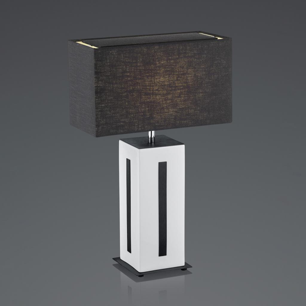 Produktové foto BANKAMP BANKAMP Karlo stolní lampa bílá/černá, výška 56cm