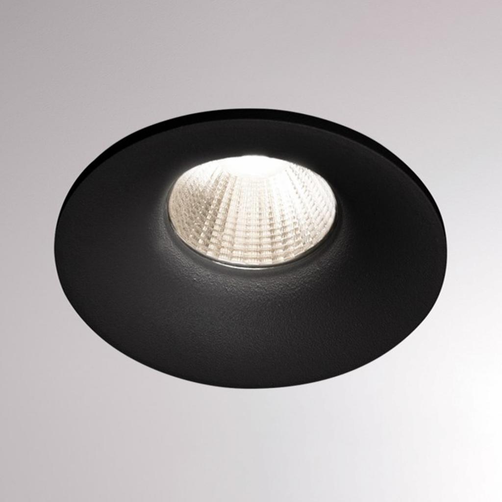 Produktové foto Molto Luce LED podhledové světlo Ivy Round 7W 3000K 40° černá