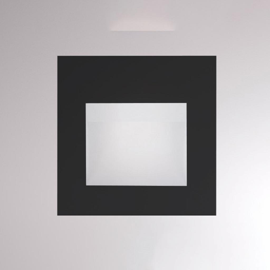 Produktové foto Molto Luce LED nástěnné zapuštěné světlo Pan, černá
