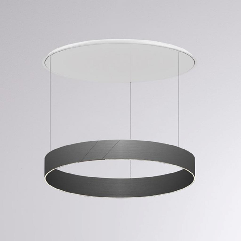Produktové foto Molto Luce LED závěsné světlo After 8 Round DALI 3000K grafit