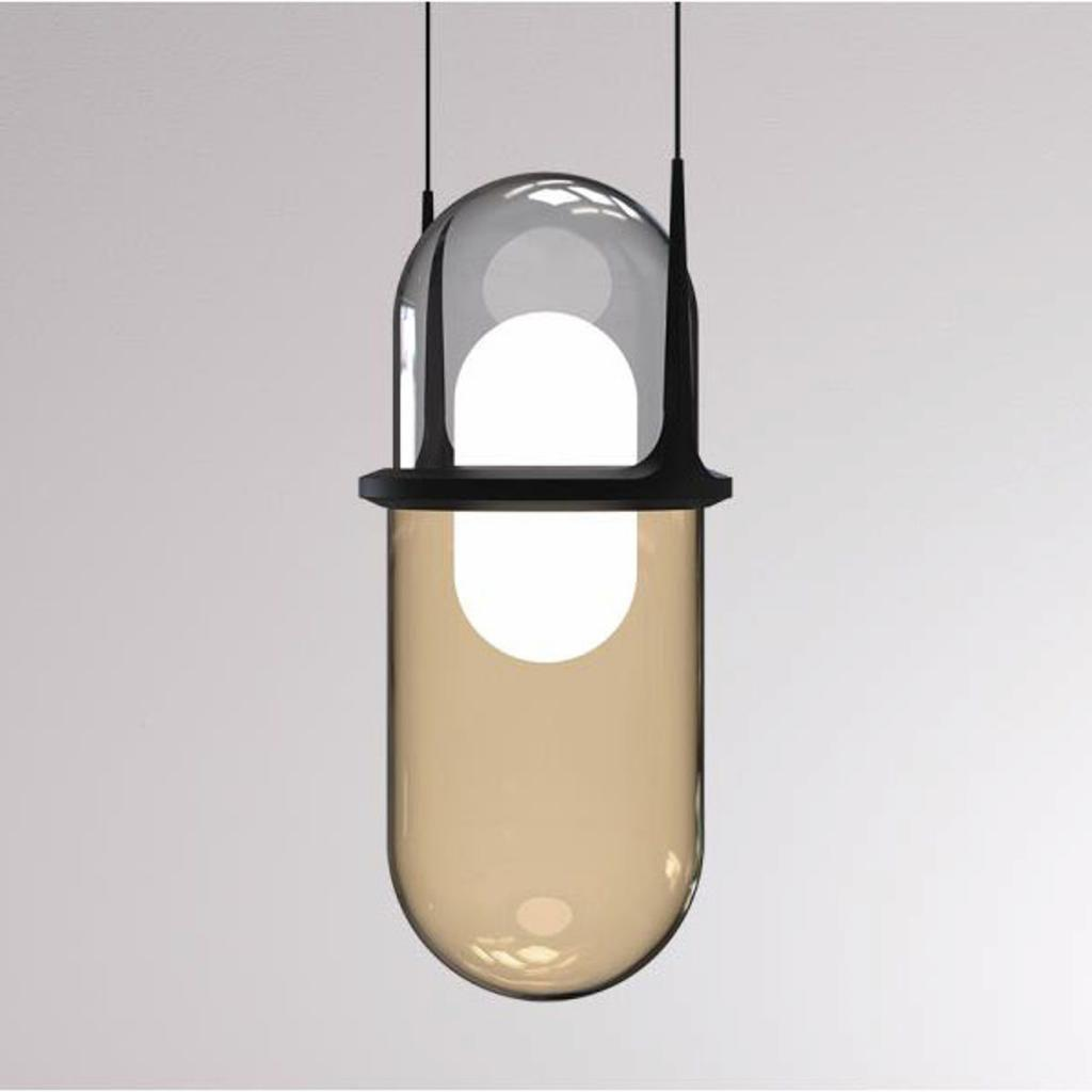 Produktové foto LOUM LOUM Pille LED závěsné světlo šedá/šampaňská