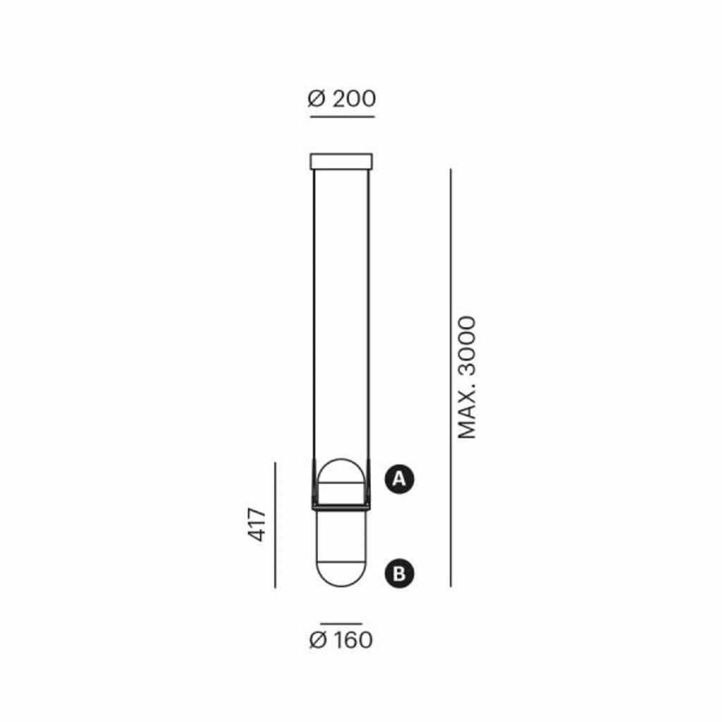 Produktové foto LOUM LOUM Pille LED závěsné světlo růžová/šedá