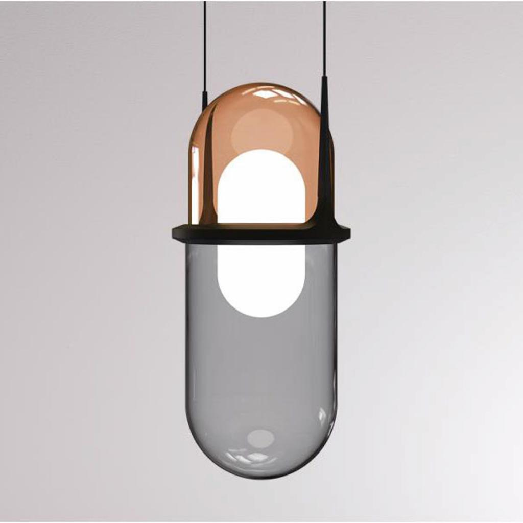 Produktové foto LOUM LOUM Pille LED závěsné světlo měď/šedá