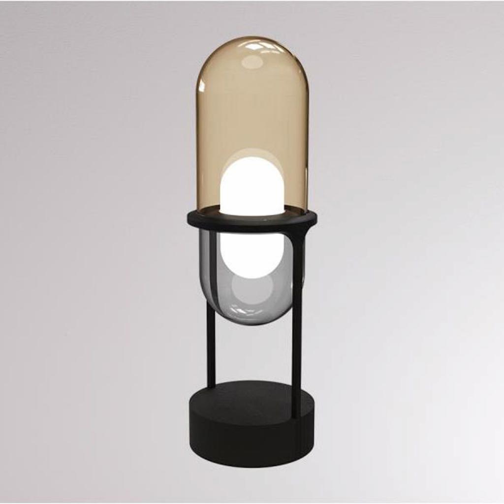 Produktové foto LOUM LOUM Pille LED stolní lampa šampaňská/šedá