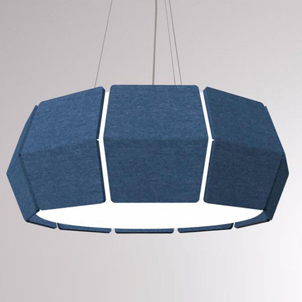 Produktové foto LOUM LOUM Decafelt LED závěsné světlo modrá Ø 76 cm
