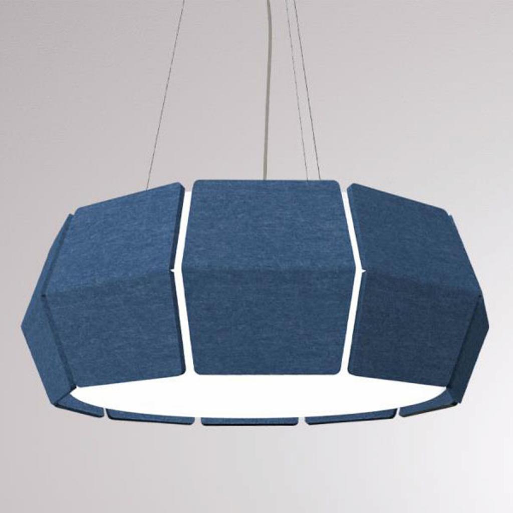 Produktové foto LOUM LOUM Decafelt LED závěsné světlo modrá Ø 54 cm