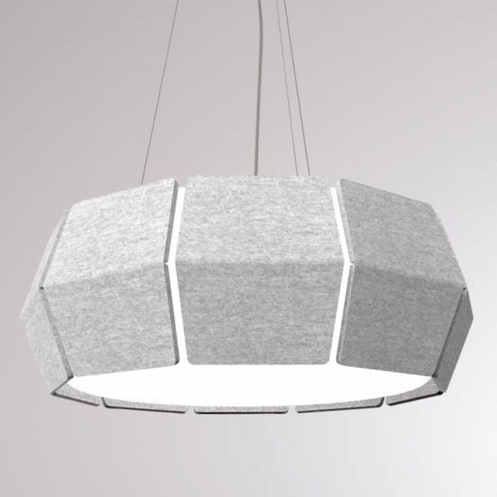 Produktové foto LOUM LOUM Decafelt LED závěsné světlo šedá Ø 54 cm