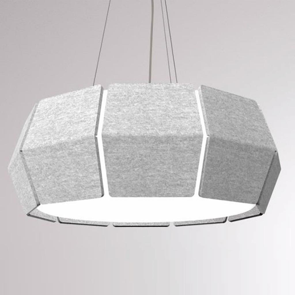 Produktové foto LOUM LOUM Decafelt LED závěsné světlo šedá Ø 76 cm
