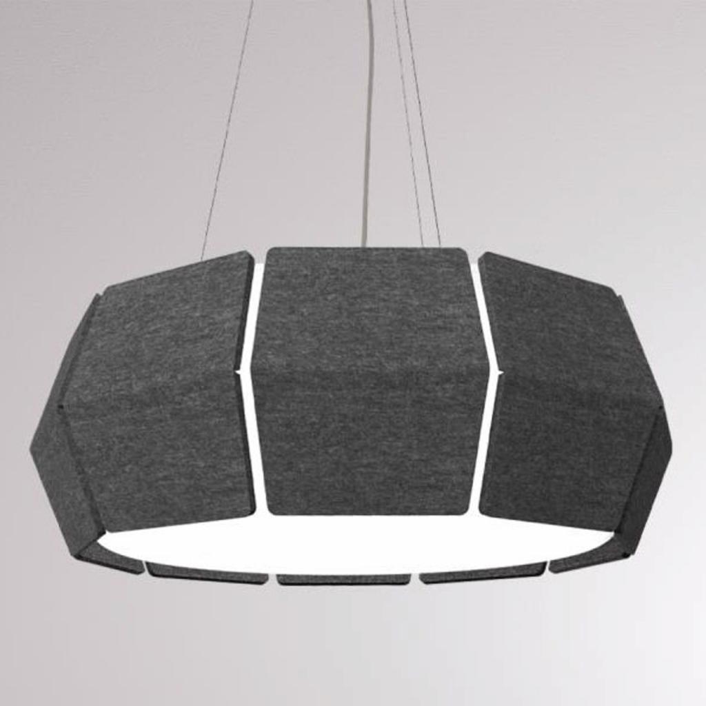 Produktové foto LOUM LOUM Decafelt LED závěsné světlo černá Ø 54 cm