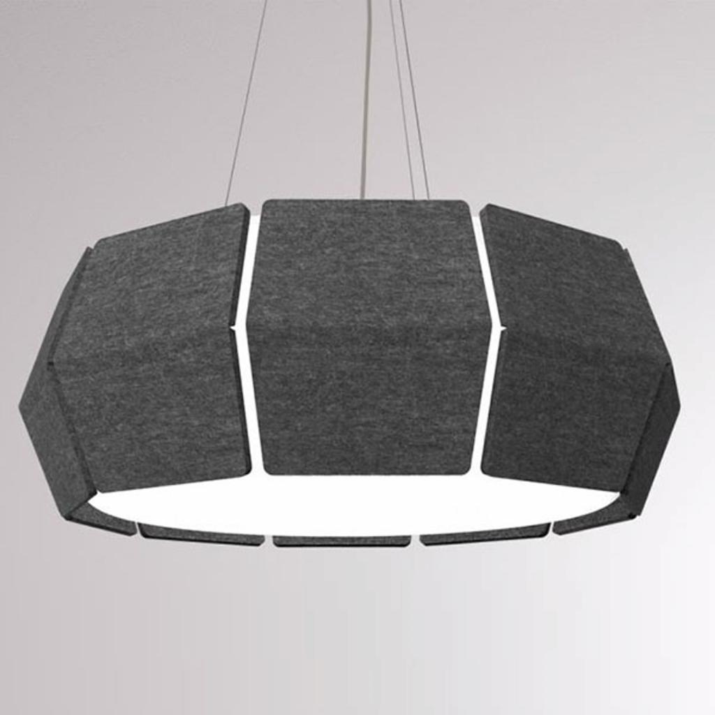 Produktové foto LOUM LOUM Decafelt LED závěsné světlo černá Ø 76 cm