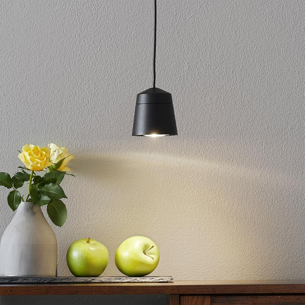 Produktové foto LOUM LOUM Leo 1 závěsné světlo v černé Ø 7,8 cm