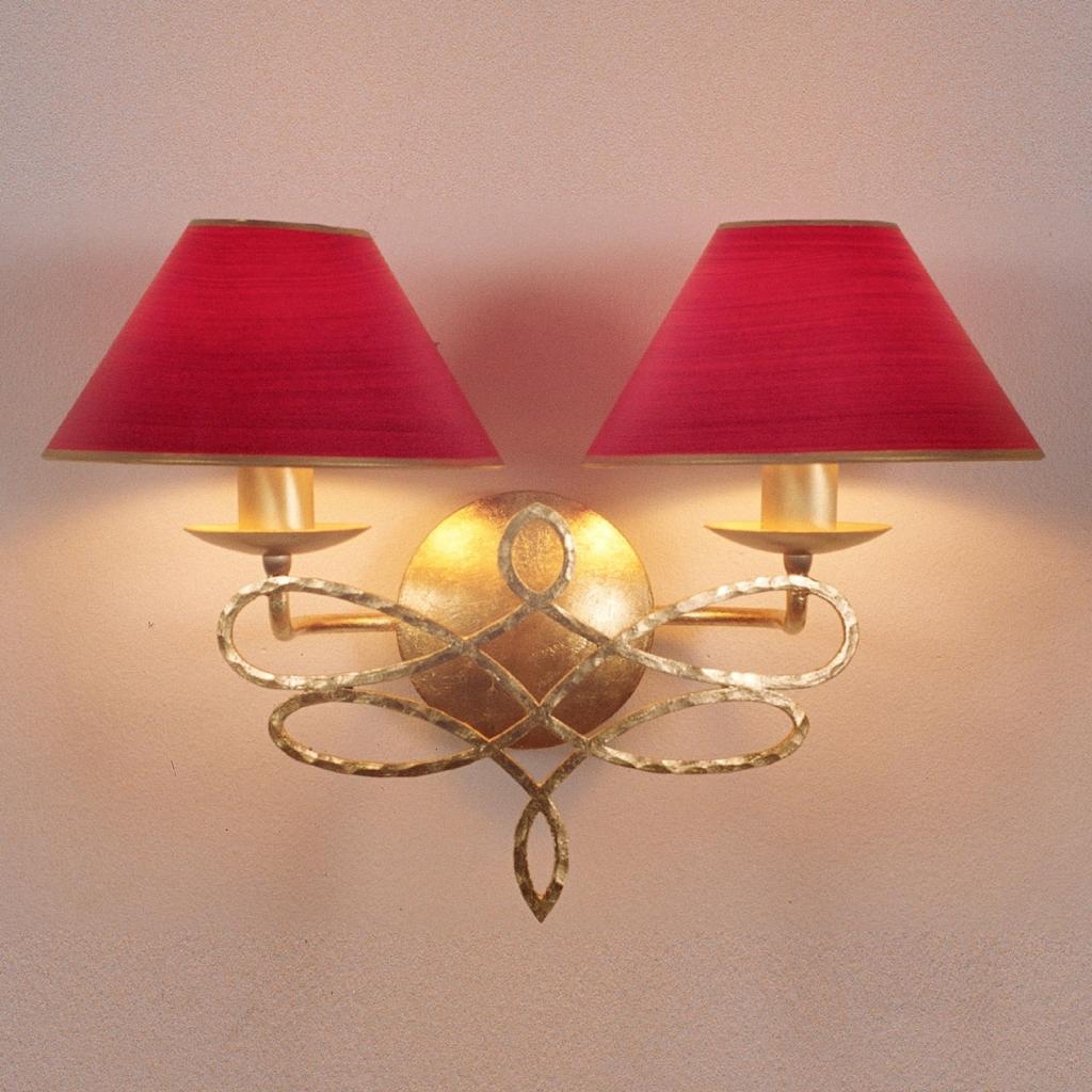 Produktové foto Menzel Menzel Sorent nástěnné světlo, 2 červená stínidla