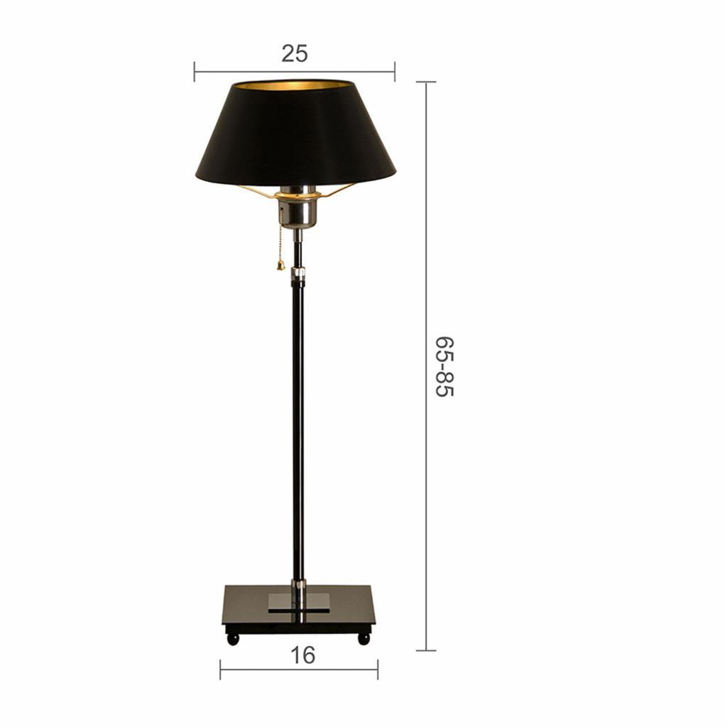 Produktové foto Menzel Menzel Antos AF4125 stolní lampa, stínidlo černé
